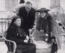 Edith Sitwell; Sir William Turner Walton; Susana Gil (née Passo), Lady Walton, by Fox Photos Ltd - NPG x194188