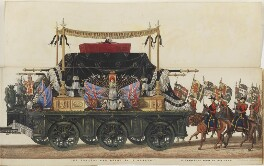 The Funeral Procession of Arthur, Duke of Wellington, by Samuel Henry Gordon Alken, and by  George Augustus Sala, published by  Ackermann & Co - NPG D42981
