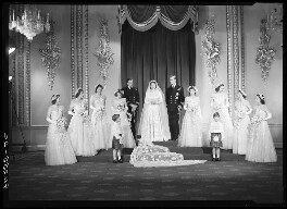 Wedding of Queen Elizabeth II and Prince Philip, Duke of Edinburgh, with bridesmaids and page boys, by Bassano Ltd - NPG x158905