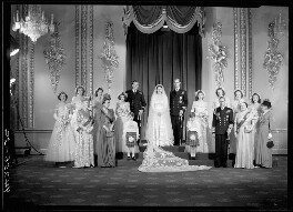 Wedding of Queen Elizabeth II and Prince Philip, Duke of Edinburgh, by Bassano Ltd, 20 November 1947 - NPG x158910 - © National Portrait Gallery, London