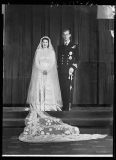 Wedding of Queen Elizabeth II and Prince Philip, Duke of Edinburgh, by Bassano Ltd - NPG x158908