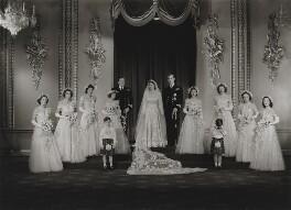 Wedding of Queen Elizabeth II and Prince Philip, Duke of Edinburgh, by Bassano Ltd, 20 November 1947 - NPG x158907 - © National Portrait Gallery, London