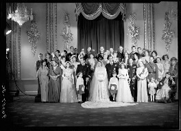 Wedding of Queen Elizabeth II and Prince Philip, Duke of Edinburgh, by Bassano Ltd, 20 November 1947 - NPG x158912 - © National Portrait Gallery, London