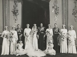 The wedding of Prince George, Duke of Kent and Princess Marina, Duchess of Kent, by Bassano Ltd - NPG x158914