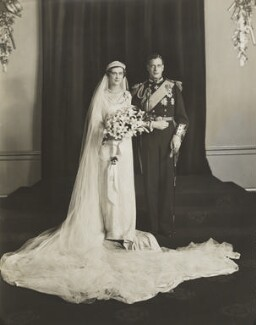 The wedding of Prince George, Duke of Kent and Princess Marina, Duchess of Kent, by Bassano Ltd, 29 November 1934 - NPG  - © National Portrait Gallery, London