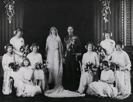 The wedding of King George VI and Queen Elizabeth, the Queen Mother, by Bassano Ltd - NPG x158916