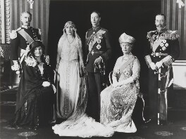 The wedding of King George VI and Queen Elizabeth, the Queen Mother, by Bassano Ltd, 26 April 1923 - NPG x158918 - © National Portrait Gallery, London