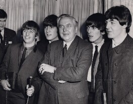 Harold Wilson with 'The Beatles', by Central Press - NPG x194205