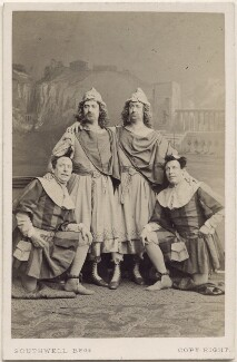 The Webb Brothers, John Nelson and George James Vining in 'The Comedy of Errors', by Southwell Brothers, 1864 - NPG  - © National Portrait Gallery, London