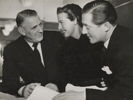 Val Parnell; Adele Dixon; Sir Hardy Amies, by Unknown photographer - NPG x194209