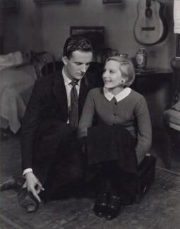 Hugh Sinclair as Sebastian Sanger and Elisabeth Bergner as Gemma Jones in 'Escape Me Never', by Vandamm Studio - NPG x194233
