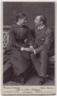 Madge Kendal as Dora; William Hunter Kendal (William Hunter Grimston) as Captain Beauclerc in 'Diplomacy', by Window & Grove - NPG x197124