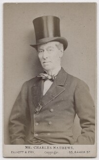 Charles James Mathews, by Elliott & Fry - NPG x197133