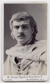 George Richard Rignold as King Henry V, by Napoleon Sarony - NPG x197149