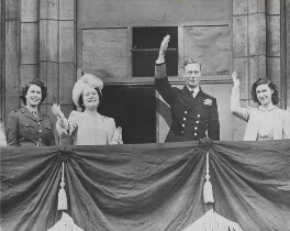 Queen Elizabeth II; Queen Elizabeth, the Queen Mother; King George VI; Princess Margaret, by Associated Press - NPG x194270