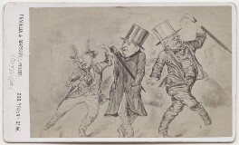 William Ewart Gladstone; Robert Lowe, 1st Viscount Sherbrooke and an unknown man, by Fradelle & Marshall, after  Unknown artist - NPG x197162