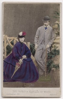 Queen Alexandra; King Edward VII, by London Stereoscopic & Photographic Company - NPG x197201