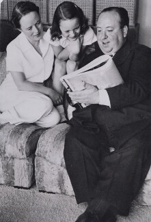 Alma Reville; Patricia ('Pat') Hitchcock O'Connell; Alfred Hitchcock, by Associated Press - NPG x194278