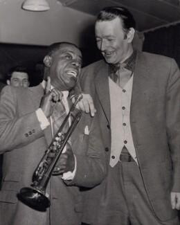 Louis ('Satchmo') Armstrong; Humphrey Lyttelton, by Planet News - NPG x194288
