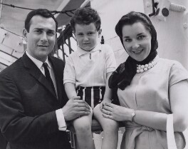 Harold Pinter; Daniel Pinter; Vivien Merchant, by Associated Press, 22 August 1961 - NPG x194308 - © Associated Press