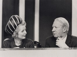 Margaret Thatcher; Sir Edward Heath, by Central Press - NPG x194330