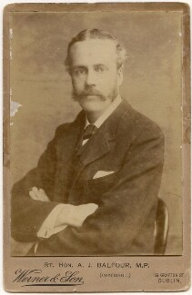 Arthur James Balfour, 1st Earl of Balfour, by Alfred Werner & Son - NPG x197245