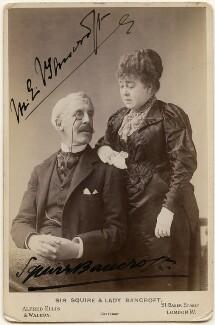 Sir Squire Bancroft Bancroft (né Butterfield); Marie Effie (née Wilton), Lady Bancroft, by Alfred Ellis & Walery - NPG x197246