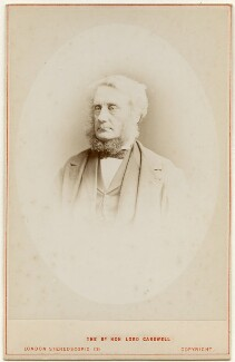 Edward Cardwell, Viscount Cardwell, by London Stereoscopic & Photographic Company - NPG x197260