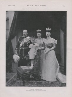 King Edward VII; Victoria ('Ena'), Queen of Spain; Princess Maud, Queen of Norway; Queen Alexandra, by Gunn & Stuart - NPG x193302
