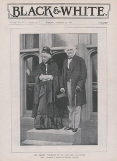 Catherine Gladstone (née Glynne); William Ewart Gladstone, by Robinson & Thompson - NPG x193304
