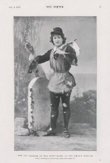 Amy Augarde as Dick Whittington in 'Dick Whittington', by Alfred Ellis - NPG x193305