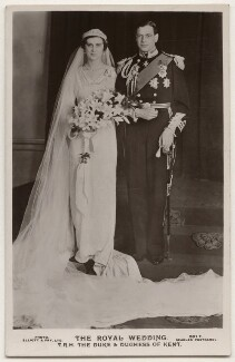 Princess Marina, Duchess of Kent; Prince George, Duke of Kent, by Elliott & Fry, published by  J. Beagles & Co - NPG x197271