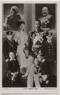'Four Generations', published by Rotary Photographic Co Ltd, after  James Charles Dinham, and  Lafayette (Lafayette Ltd), and  Langfier Ltd, and  William Slade Stuart, and  Unknown photographer, published 1910s - NPG x138856 - © National Portrait Gallery, London