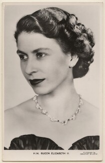 Queen Elizabeth II, by Dorothy Wilding, published by  James Valentine & Sons Ltd - NPG x138875