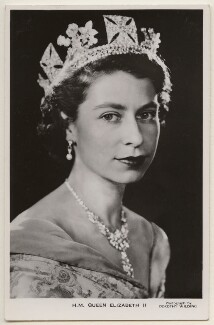Queen Elizabeth II, by Dorothy Wilding, published by  James Valentine & Sons Ltd - NPG x138883