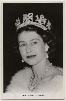 Queen Elizabeth II, published by James Valentine & Sons Ltd - NPG x138886