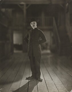 Charlie Chaplin on-set for 'The Pilgrim', by James Abbe - NPG x138888