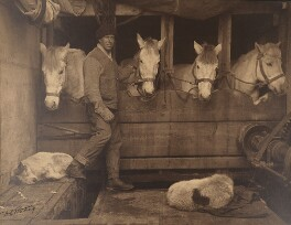 Lawrence Oates ('Captain Oates and Siberian Ponies aboard the Terra Nova'), by Herbert George Ponting - NPG P1973