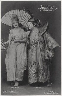Dora Hrach and Anton Franck in 'Geisha', by Zander & Labisch, published by  Photochemie - NPG x138905