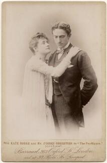 Kate Rorke (Mrs Douglas Cree) as Leslie Brudenell; Sir Johnston Forbes-Robertson as Dunstan Renshaw in 'The Profligate', by Herbert Rose Barraud - NPG x197306