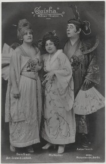 Dora Hrach; Mia Werber and Anton Franck in 'Geisha', by Zander & Labisch, published by  Photochemie - NPG x138907