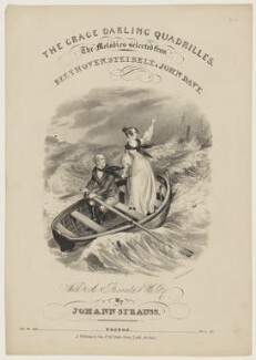 William Darling; Grace Darling, by J.C. Wilson, printed by  W. Clerk, published by  Lucy Williams & Son - NPG D42818