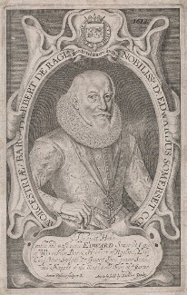 Edward Somerset, 4th Earl of Worcester, by Simon de Passe, published by  William Peake - NPG D42984