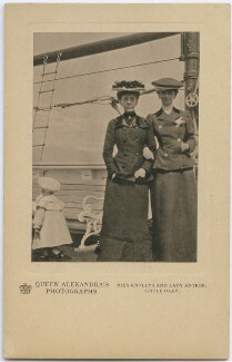 Olav V, King of Norway; Hon. (Elizabeth) Charlotte Knollys; Louisa Jane (née Grey), Countess of Antrim, by Queen Alexandra, published by  A.V.N. Jones & Co - NPG x197334