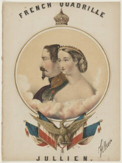 Napoléon III, Emperor of France; Eugénie, Empress of France, by John Brandard, printed by  M & N Hanhart - NPG D42821