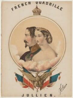 Napoléon III, Emperor of France; Eugénie, Empress of France, by John Brandard, printed by  M & N Hanhart - NPG D42821