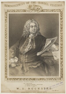 George Frideric Handel, printed by M & N Hanhart, published by  Ashdown & Parry, after  Thomas Hudson - NPG D42822
