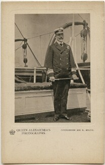 Sir (Archibald) Berkeley Milne, 2nd Bt, by Queen Alexandra, published by  A.V.N. Jones & Co - NPG x197337