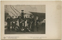 Group on board HMY Victoria and Albert, Copenhagen, by Queen Alexandra, published by  A.V.N. Jones & Co - NPG x197340