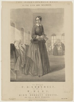 Florence Nightingale, published by George Henry Davidson, after  Unknown artist - NPG D42825
